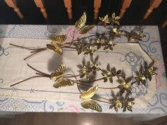 2 Home Interior Gold Br Copper Metal Wall Decor Erflies And Flowers