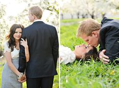 I like this engagement session clothing choice. Like a play of the wedding day attire