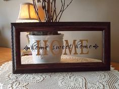 Home Sweet Home Vinyl Lettering Framed by KWintersDesigns on Etsy, $20.00