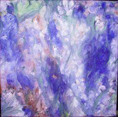 Wasserlilien Öl 2012 50x50cm