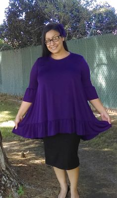 Modest Woman Leann Loose Fitting Swing Top by luisalove30 on Etsy