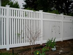 fence gates Semi-Private Vinyl Fence Style How Soon Should I Teach Vinyl Fence Panels, Privacy Fence Panels, Privacy Fence Designs, Garden Fence Panels, Front Yard Fence, Pool Fence, Backyard Fences, Vinyl Fencing, Fence Gates