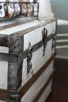 Sweet Old Trunks... Painted white of course :)