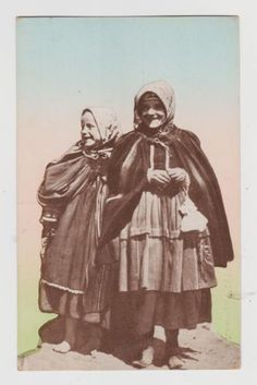 Russia/Poland Woman & Girl in Peasant Clothes Polish Russian Types c.1909