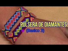 Pulsera de Hilo: Pulsera de Diamantes (Basico 3) Intermedio - YouTube