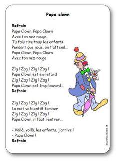 Comptine Papa clown Theme Carnaval, Circus Clown, Mardi Gras, Elementary Schools, Poems, Preschool, Education, Kids, Clowns