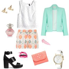 Spring by julie-buathier on Polyvore featuring polyvore, mode, style, H&M, Damsel in a Dress, Accessorize, Vera Bradley, Kate Spade, M&Co and By Terry