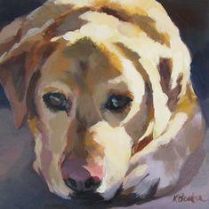 "Daily Paintworks - ""Head Down"" - Original Fine Art for Sale - © Kaethe Bealer Watercolor Animals, Watercolor Art, Dog Portraits, Animal Paintings, Dog Art, Art Studios, Painting & Drawing, Art Drawings, Sculpture"