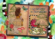 fairy tale collage   Curious Adventures by Tangie Baxter and SherrieJD at Scrapbookgraphics.com