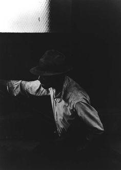 "katstan: "" Man coming up Subway stairs, 1952 - Roy DeCarava """