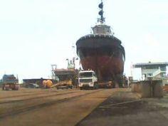 Hauling tugboat
