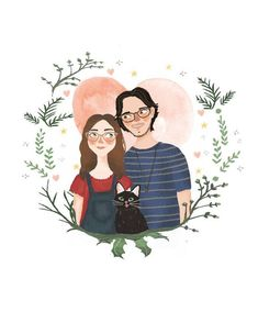 Creating lovely illustrations for your loved ones. Couple Illustration, Portrait Drawing, Character Design, Family Illustration, Couple Portraits, Custom Portraits, Family Art, Art, Family Portraits