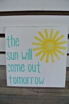 the sun will come out tomorrow turquoise and by scrapartbynina, $25.00