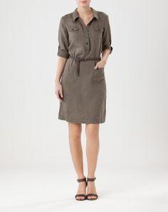 Robes, Tops, Pantalons, Vestes jusqu à -50%…Boutique Officielle. Robe Kaki  · Robe Chemisier · Veste Femme  Robe Saharienne ... ad48f83f620e