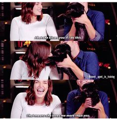 The dog loves Ian more. She won't give Elizabeth a kiss! #FitzSimmons