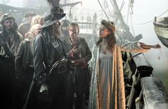 Poze Geoffrey Rush, Keira Knightley în Pirates of the Caribbean: The Curse of the Black Pearl