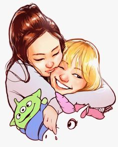 Lisa Manoban y Kim Jennie Adorables y Cariñosas..