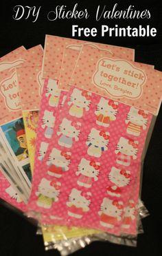 sticker valentine's with free printable