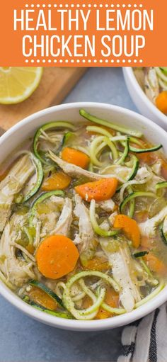 Healthy Chicken Recipes, Healthy Dinner Recipes, Crockpot Healthy Recipes Clean Eating, Crockpot Chicken Soup Recipes, Lemon Recipes Dinner, Beef Recipes, Easy Recipes, Whole30 Soup Recipes, Healthy Chicken Soup
