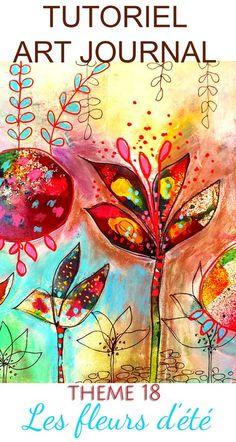 Nouvelle page d'art-journal avec son tutoriel sur mon blog