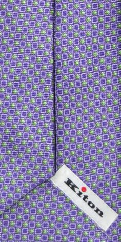 Kiton lilac lime design summer tie, Kiton Napoli men collection summer 2013 $285 SALE $175