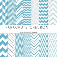 Digital Paper Pack: Parachute Chevron- Perfect for Scrapbooking, Invitations, Cards, Gift Wrap, Pillow Boxes #buyhandmade #digitalpaper
