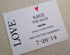 Modern save the dates on Etsy, $17.50