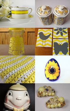 Yellow with TeamVintageUSA by Betsy on Etsy--Pinned with TreasuryPin.com