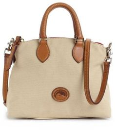 Dooney & Bourke Small Crossbody Satchel  Color tan