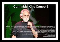 Tommy Chong: Cannabis Kills Cancer!  Hm guess the Feds have A LOT of explaining to do.... dont you think?
