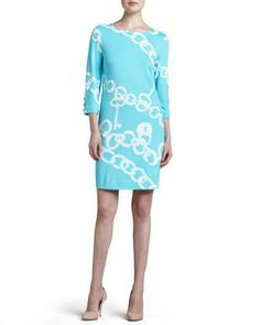 Jonah Posh Ponte Dress by Lilly Pulitzer at Neiman Marcus.