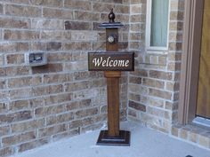 WELCOME POST 1 Welcome Sign Included Wooden Welcome by LLDMDesigns