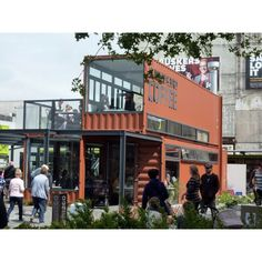 Shipping Container Cafe - #shippingcontainer