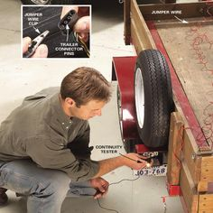 Trailer lights not working? Here's how to diagnose and fix utility and/or boat trailer wiring issues. Get your trailer hitch lights up and running again fast! Trailer Light Wiring, Trailer Wiring Diagram, Hauling Trailers, New Trailers, Boat Trailer, Trailer Hitch, Electrical Projects, Electrical Wiring, Photo Sequence