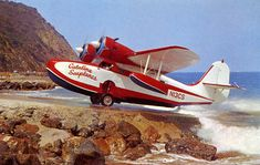 Grumman Goose c/n 1007 at the Pebbly Beach seaplane ramp, Catalina Island. Catalina Island California, Southern California, Amphibious Aircraft, Grumman Aircraft, Ww2 Aircraft, Bush Pilot, Aviation World, Aviation Art, Float Plane