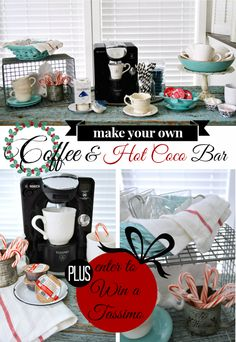 DIY a TASSIMO™ Hot Chocolate and Coffee Bar! So great for entertaining during the holiday season.