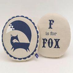F is for Fox cushion