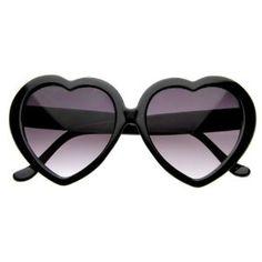 black heart shaped eye wear