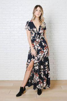 99a91dfff242 Navy Floral Maxi Dress – No Rest For Bridget