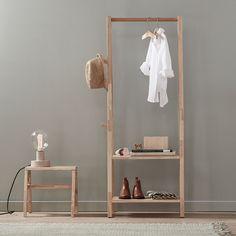 Buy the Kids Concept Wooden Saga Clothes Rack today! Clothes Rail, Clothes Hanger, Nice Clothes, Stylish Clothes, Open Wardrobe, Wardrobe Rack, Small Storage, Storage Boxes, Shoe Shelves