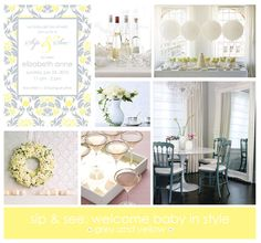 ideas for a sip see party the party dress sophisticated baby shower centerpieces Grey Baby Shower, White Shower, Baby Shower Centerpieces, Baby Shower Decorations, Sophisticated Baby Shower, Sip N See, Wanting A Baby, Adoption Party, Baby Friends