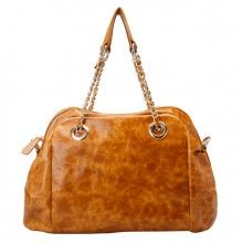 brown / red - brown / yellow - brown leather convertible crossbody shoulder handbag bag for women