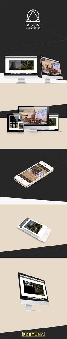 Sitio Web creado para la empresa VGDV Arquitectos.