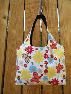 Social Butterfly Summer Yellow Red Blue White Mini by joliefemme, $14.00