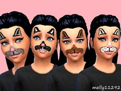 Kids Cat Face Paint by melly11292 at TSR • Sims 4 Updates