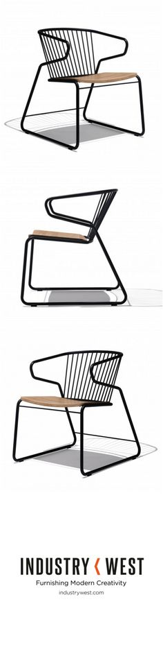 The Gabbia Chair will make you want to sit for hours. This comfortable, stylish looking chair has a unique design. Its proportions are just to give you a maximized seating experience. The curved lightweight metal structure encircles the wooden seating, which give it its particular look. A stylish companion to any home.