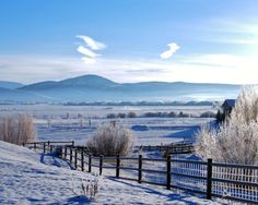 Landscape Photography - Park City in Shades of Icy Blue - Nature, Travel, Winter, Snow, Mountain, Utah, Farm, Fine Art Photography