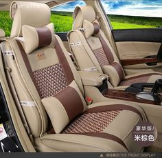 For Alfa GT Giulia 156 Luxury Pu Leather Weave Ventilate Front Rear Complete Car Seat Covers Four Seasons