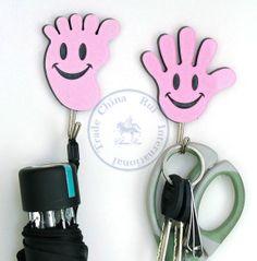 Minimum Order is $10(Mix items)  2pc/pack self Adhesive hooks cute hand feet holder hanger sticker clothes Wall bathroom window $2.29