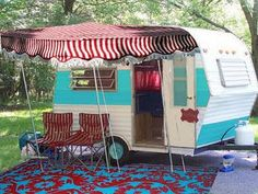 Mary Lou is 10′ long (13′ including tongue) and boasts a Cowgirl Interior, ...  littlevintagetrailer.com